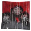 """Glasplatte """"Algion"""" Viereck, 19 cm"""
