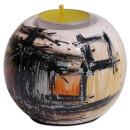 """Teelichthalter aus Keramik """"Polaris"""", 7 cm"""