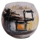 """Teelichthalter aus Glas """"Polaris"""", 9 cm"""