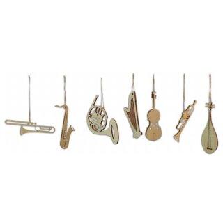 Baumbehang - Instrumente, 7er Set, Original Erzgebirge