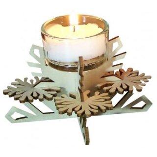 Teelichthalter - Schneeflocke, Original Erzgebirge
